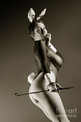 Provocative Photograph - Bunny Girl Tease by John Tisbury