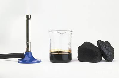 Bunsen Burner, Oil And Coal Print by Andy Crawford / Dorling Kindersley