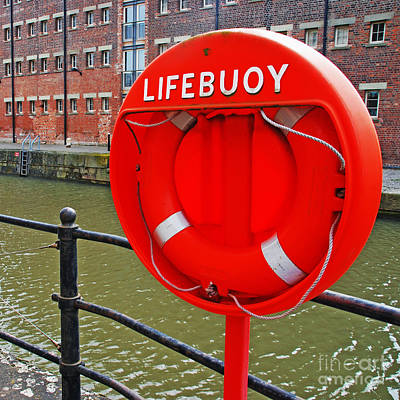 Buoy Foam Lifesaving Ring Print by Luis Alvarenga