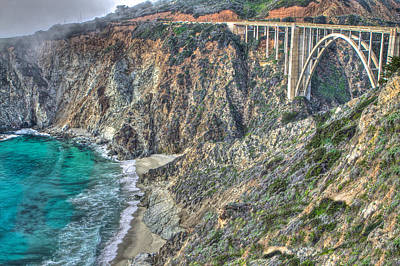 Trees Photograph - Bur Sur The Pacific And Bixby Bridge by SC Heffner