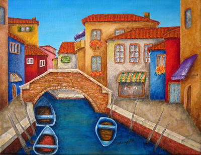 Row Boat Drawing - Burano by Pamela Allegretto