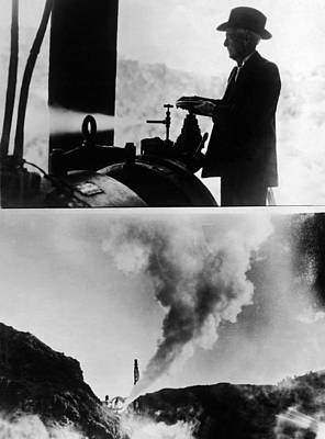 Burbank And The Sonoma Geysers Print by Underwood Archives