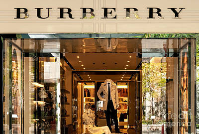 Storefront Photograph - Burberry by Rick Piper Photography