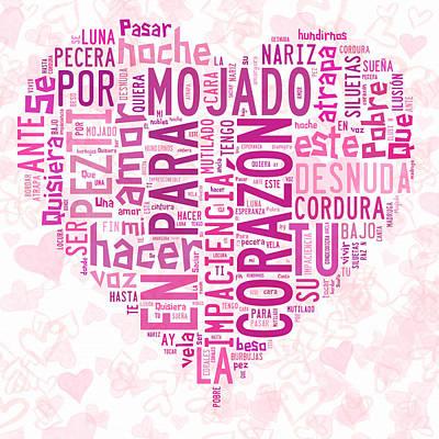 Burbujas De Amor Print by Paulette B Wright