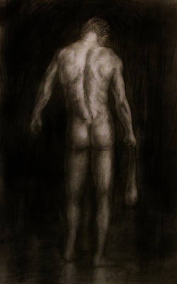 Burdened Man Print by Derek Van Derven