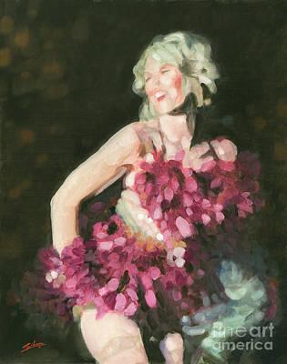 Burlesque II Print by John Silver