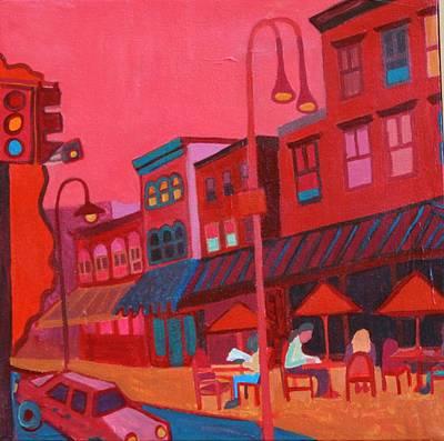 Burlington Vt Cafe Print by Debra Bretton Robinson