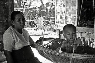 Bamboo House Photograph - Burmese Grandmother And Grandchild by RicardMN Photography
