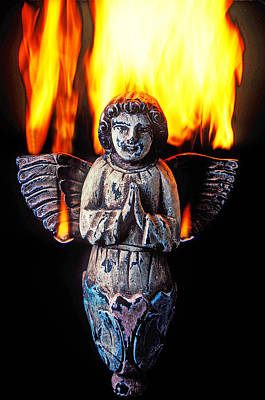 Worship God Photograph - Burning Angel by Garry Gay
