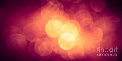Burning Bokeh Print by Jan Bickerton