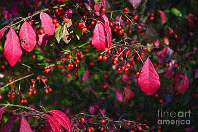 Burning Bush Digital Art - Burning Bush by Lena Auxier
