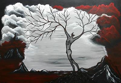 Surreal Landscape Painting - Burning Desire by Sylvia Sotuyo