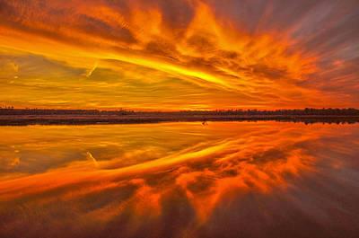 Burning Sky Print by Donnie Smith