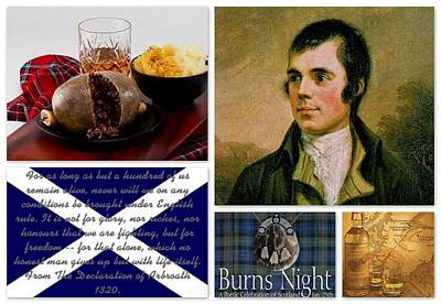 Burns Night 25 January Print by The Creative Minds Art and Photography
