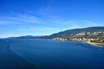 Stanley Park Photograph - Burrard Inlet Vancouver by Aged Pixel