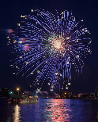 4th July Photograph - Burst Of Blue by Bill Pevlor
