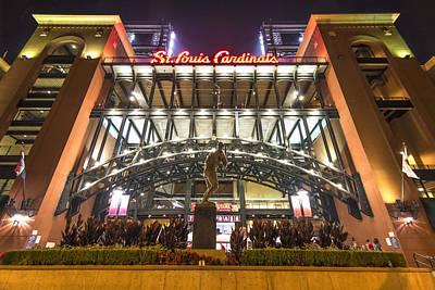 Ram Photograph - Busch Stadium St. Louis Cardinalsstan Musial by David Haskett