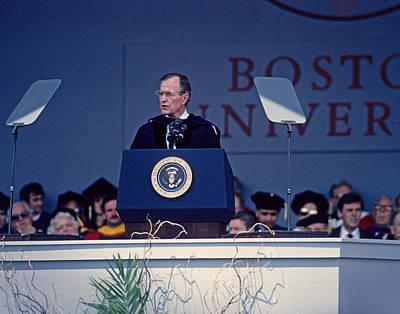 George Bush Photograph - Bush 41 01 by Jeff Stallard