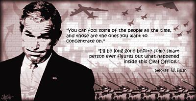 George Bush Digital Art - Bushizzle by Jay Aitch