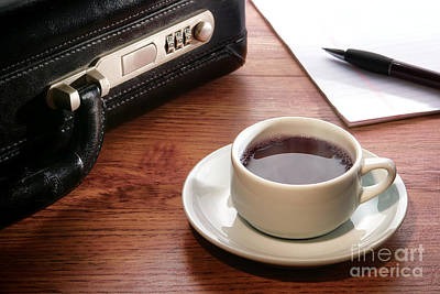 Pause Photograph - Business Meeting by Olivier Le Queinec