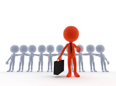 Business Team Leader Print by Michal Bednarek