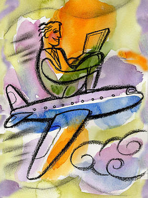 Adventuresome Painting - Business Trip by Leon Zernitsky