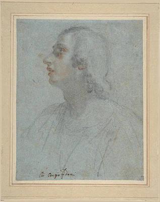 Orazio Fidani Drawing - Bust Of A Youth Looking To Upper Left by Orazio Fidani