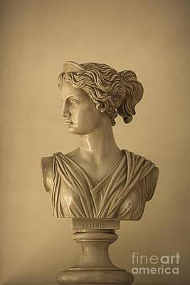 Bust Of Artemis Print by Diane Diederich