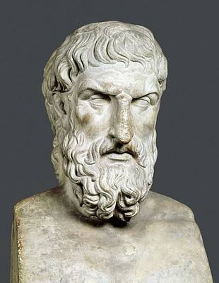 Statue Portrait Photograph - Bust Of Epicurus. 1st Half 4th Bc by Everett
