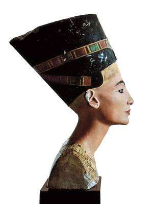 Statue Portrait Photograph - Bust Of Nefertiti. S.xiv Bc. 18th by Everett