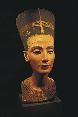 Statue Portrait Photograph - Bust Of Nefertiti. S.xiv Bc. 19th by Everett