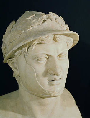 Bust Of Pyrrhus Print by Roman