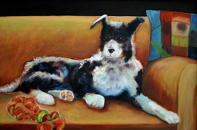 Buster The Border Collie Print by Carol Jo Smidt