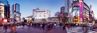 Shibuya Photograph - Busy Crowded Intersection In Shibuya Tokyo by Oleksiy Maksymenko