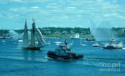 Busy Halifax Harbor During The Parade Of Sails Print by John Malone