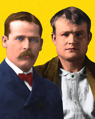 Butch Cassidy And The Sundance Kid 20130512 V2 Vertical Print by Wingsdomain Art and Photography