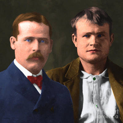 Butch Cassidy And The Sundance Kid 20130512 V3 Square Print by Wingsdomain Art and Photography