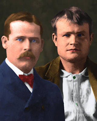 Butch Cassidy And The Sundance Kid 20130512 V3 Vertical Print by Wingsdomain Art and Photography