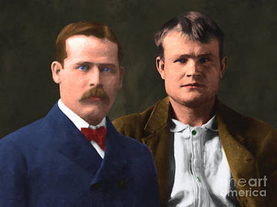 Butch Cassidy And The Sundance Kid 20130512 V3 Print by Wingsdomain Art and Photography
