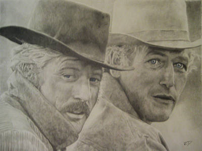 Butch Cassidy And The Sundance Kid Print by Robbie Douglas