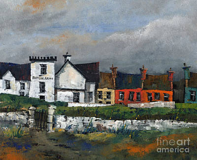 Butler Arms Waterville Kerry Print by Val Byrne