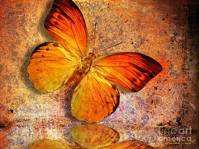 Spa Digital Art - Butterfly 2 by Mark Ashkenazi