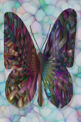 Merging Digital Art - Butterfly 3 by Jack Zulli