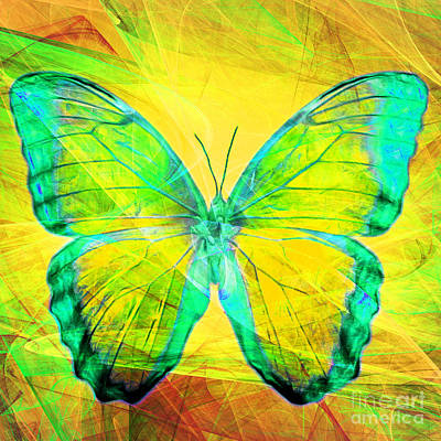 Pest Digital Art - Butterfly Dsc2969m128 Square by Wingsdomain Art and Photography