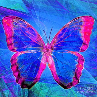Wingsdomain Digital Art - Butterfly Dsc2969p32 Square by Wingsdomain Art and Photography