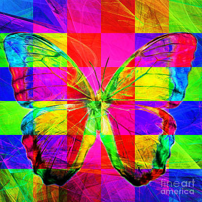 Pest Digital Art - Butterfly Dsc2969v2 Square by Wingsdomain Art and Photography