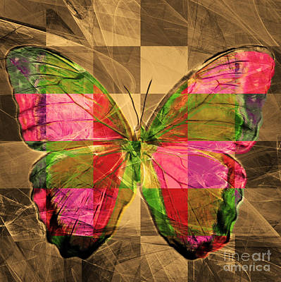 Pest Digital Art - Butterfly Dsc2969v3 Square by Wingsdomain Art and Photography