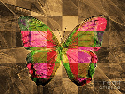Pest Digital Art - Butterfly Dsc2969v3 by Wingsdomain Art and Photography