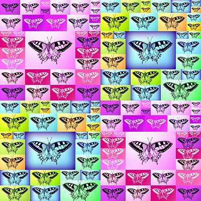 Abstract Image Of A Butterfly Drawing - Butterfly Empire by Cathy Jacobs