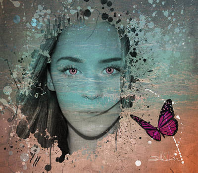 Visual Creations Drawing - Butterfly Eyes by Isabel Salvador